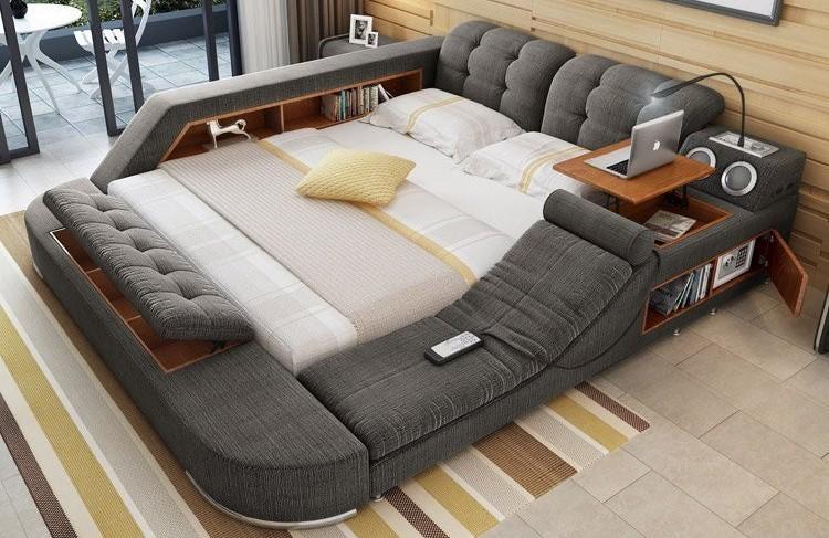 Интерьер комнаты с кровать Blue Sleep